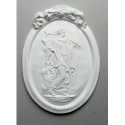 "BAS RELIEF RESINE "" DIANE CHASSERESSE"""