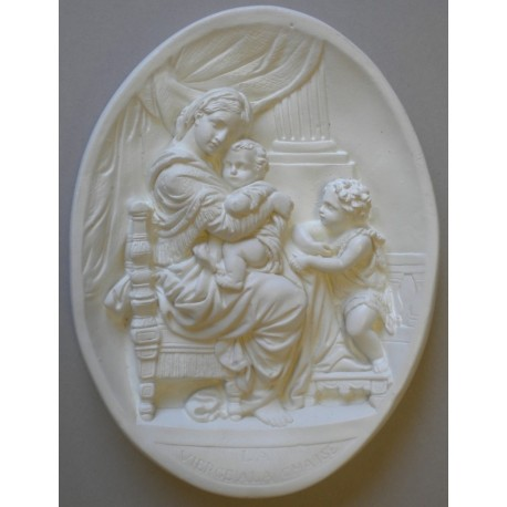 BAS RELIEF - VIERGE A LA CHAISE
