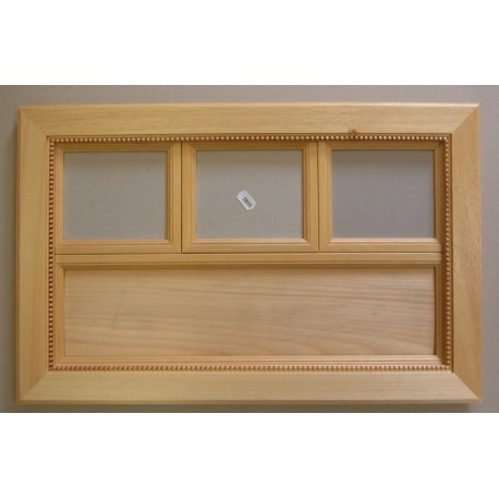 cadre bois brut rectangulaire 3 fen tres. Black Bedroom Furniture Sets. Home Design Ideas